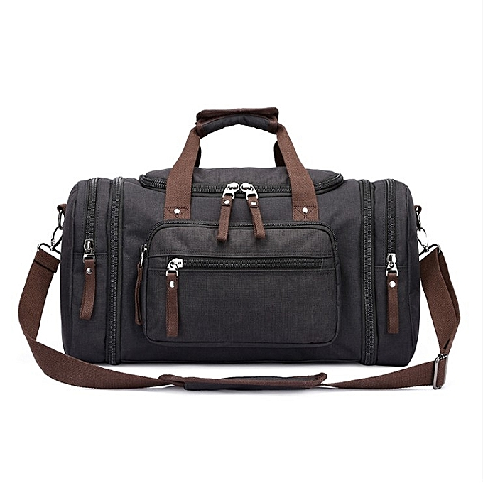 ... Unisex casual outdoor canvas handbag weekender bag multi-function large  capacity travel duffle bag ... f890023ca3655
