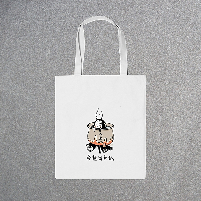 9b793f4cd82 Cook life-the white wrapThe ins canvas wraps female shoulder bag handbag  women's bag new style of day Korean ulzzang Jian Yue Xiao's literature ...