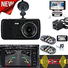 AfricanmallDN store  4'' LCD IPS Dual Lens Car Dash Cam FHD 1080P Dashboard Camera 170° Driving DVR -Black