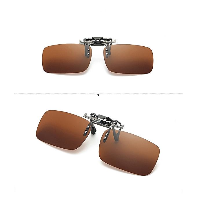 d568da95f53 Detachable Night Vision Lens Driving Metal Polarized Clip On Glasses  Sunglasses ...