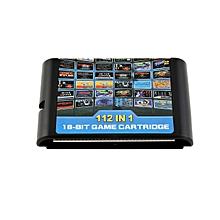 CO 112 In One Game Cartridge Portable Card For Retroad Sega Genesis-black