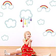 Color Cartoon Rainbow Cloud Children's Room Decorative Sticker