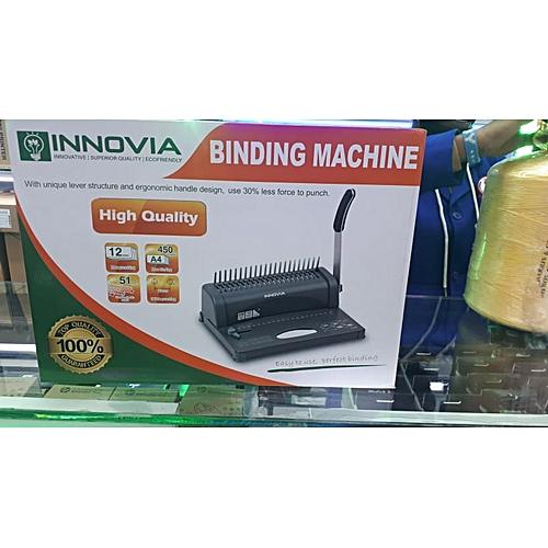Generic A4 Comb Binder Binding Machine-Grey-Black-Multicolor