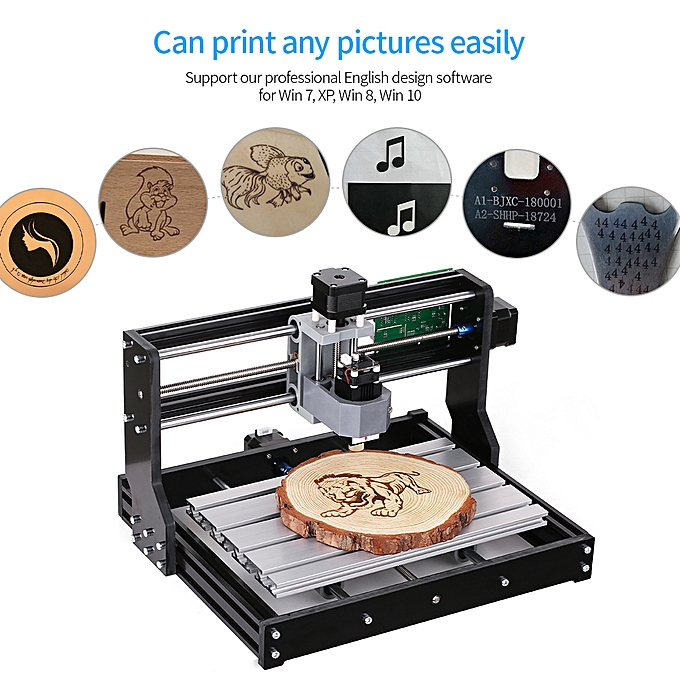 CNC3018 DIY CNC Router Kit 2-in-1 Mini Laser Engraving Machine GRBL Control  3 Axis for PCB PVC Plastic Acrylic Wood Carving Milling Engraving Machine
