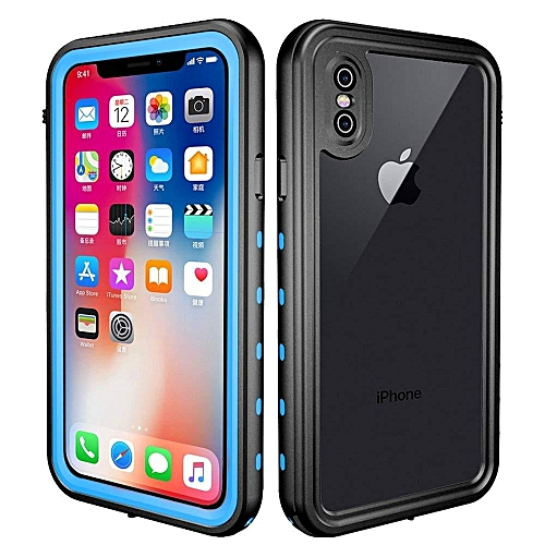 sale retailer fb17f ea0c1 Waterproof Case For IPhone X ,IP68 Waterproof/Shockproof/Dirtproof,  Full-body Protective Case With Built-in Screen Protector For IPhone X  (Light blue)