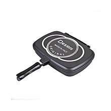 Two-Sided Double Grill Non-stick Pressure Pan - Black