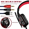 Gaming Headset with HD Mic and LED Light for PS4 X Box Laptop Computer, Cellphone, PS4  and others  3.5mm Wired Noise Isolation Gaming Headphones - Volume Control.(Red and Black).