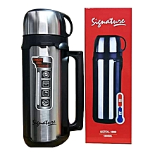 1.8L Stainless Steel Double Wall  Hot Or Cold Thermos Flask - Silver