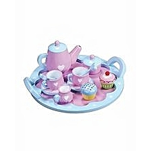 Wooden Heart Teapot Set Childrens Pretend Role Play Toy