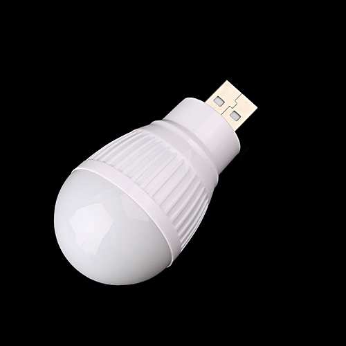 Portable Mini USB LED Light Lamp Bulb For Computer Laptop PC Desk  Reading-White
