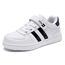 Children's leather white shoes casual versatile shoes
