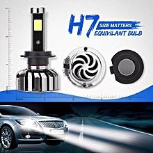 A Pair 80W 8000LM H7 CREE LED Headlight Kit Low Beam Light Bulbs 6000K White High Power
