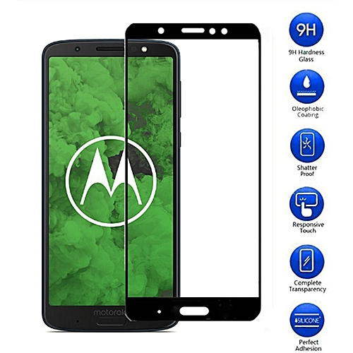 newest 2ea39 66fbd Full Cover Tempered Glass For moto g6 plus Screen Protector For Motorola  Moto G5 E4 G6 Plus G5S G6 play Case Protective Film(Color Gold)