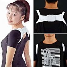 High Elastic Correction Brace Band Belt, Posture Corrector, Shoulder Back Support for Women White