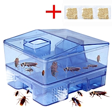 2pcs 3 Doors Pest Control Tool roach Trap Container Collect & Killer Catcher Box