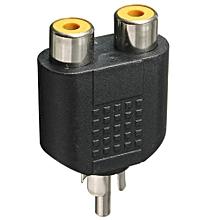 RCA Phono Y Splitter Adaptor Phono 2 X Female To 1 X Male Audio Video GOLD
