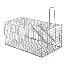 Rat Trap Cage Animal Pest Rodent Mice Mouse Control Live Bait Catch Silver NEW