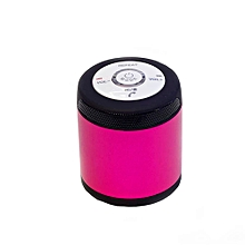 Portable Wireless Bluetooth Stereo FM Speaker For Smartphone Tablet Laptop -pink