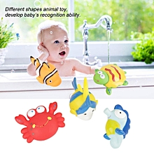 5Pcs Novel Cute Animal Bath Toy Spray Water Educational Toys Swiming Bathroom