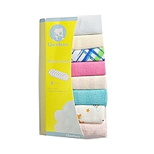 8 Pieces Baby Infant Newborn Washcloth - Assorted .