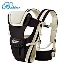 Multipurpose Adjustable Buckle Mesh Wrap Baby Carrier Backpack-Brown