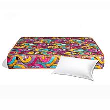 Medium Density Quilted Mattress - with free luxury fiber pillow