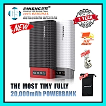 New Model PN-982 Capacity 20,000mAh 100% Genuine Pineng PN982 982 The Most Tiny & Lighting 20K PowerBank With 1 Year Warranty FREE Pouch & Cable BGmall