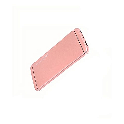 Power Bank 10,000 mAh Popular Design With Polymer Battery And Dual USB cable - Rose Gold