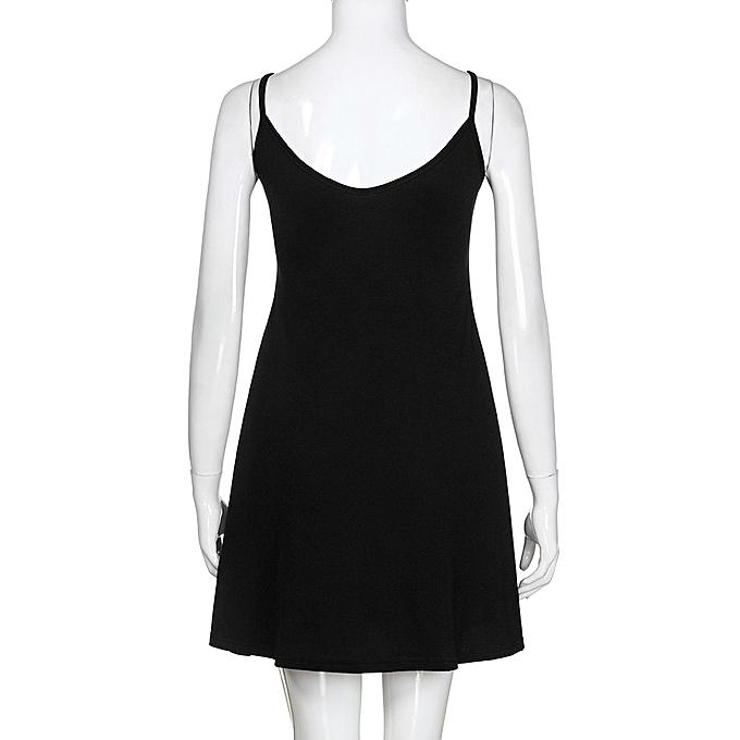 50c6e10733b ... Women s Solid Casual Plain Simple Loose Summer Sling Dresses Sundress  ...