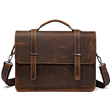 Vintage Official 100% genuine  Leather Laptop  Bag