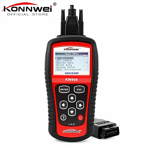 KW808 OBD Car Scanner OBD2 Auto Automotive Diagnostic Scanner Tool Supports  CAN J1850 Engine Fualt Code Reader HonTai