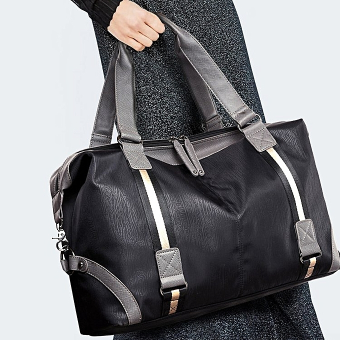 4777491248 Waterproof Oxford Cloth Shoulder Travel Bag Sports Gym Handbag (Black)