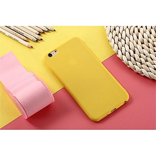 new styles 28728 b5e61 for iPhone 8 Plus case Matte Phone Case iPhone iPhone Simple Solid Soft TPU  Cases Back Cover-Yellow