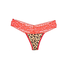 Red Transparent V Shape Thongs