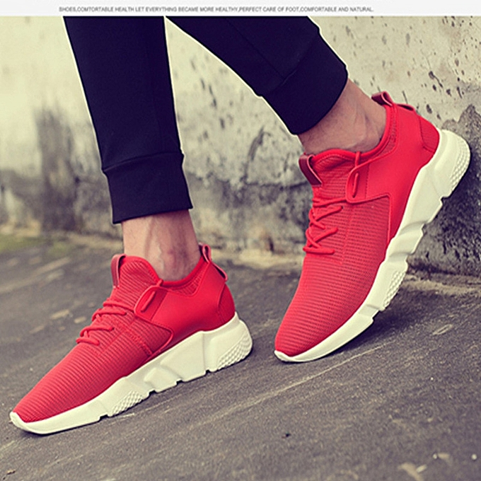 a31c1ed4153 Men's Fashion Sneakers Casual Running Sports Shoes (Red)