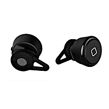 New Mini Wireless Bluetooth Earphone Handsfree Headset for Smartphone -Black