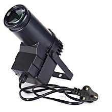 30W RGBW LED Stage Light Shooting Lamp Beam Spotlight DMX 6CH DJ DISCO Party KTV Plug In UK Black Shell