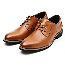Provided Us 6-10 High-end Mens Genuine Leather Oxfords British Style Man Formal Dress Wedding Shoes Elegant Lace Up Leather Shoes Jade White Men's Shoes Formal Shoes
