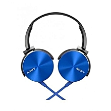 SONY Headphones with Extra Bass - Blue