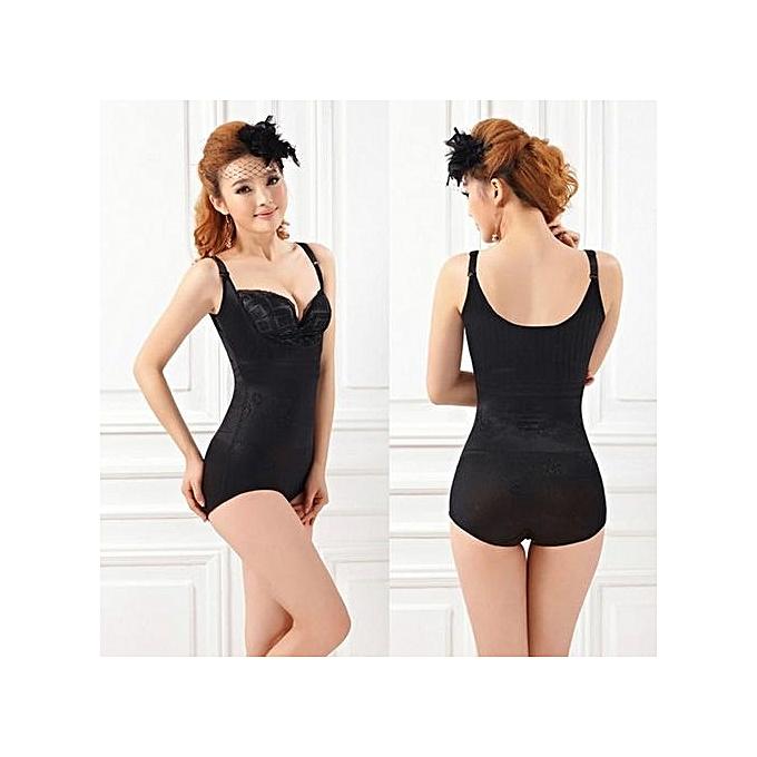 a73471a3f3c1b Tummy Suit Control Girdler Underbust Slimming Shapewear Cincher Full Body  Shapers Firm-Black