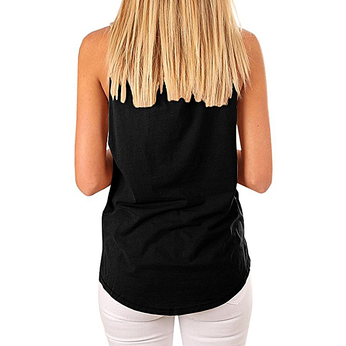b03cafc90f4ecb Women's High Neck Tank Sleeveless Blouse Plain T Shirts Pocket Cami Summer  Tops