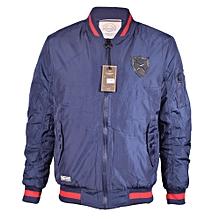 Blue Casual Bomber Jacket - Freestyle Streetwear