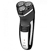 Rechargeable Hair Rotary Shaver/Trimmer For Men - Black