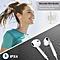 Bluetooth Earpiece Muffler Anti-Sweat Sports Earpiee White