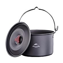 Naturehike 4-6 Person Alumina Outdooors Hanging Pot Portable Ultralight Camping Picnic Cooking Ware