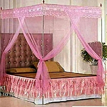 Mosquito Net with Metallic Stand - 4x6 - Pink