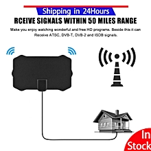 TV antenna aerial 50 Miles 25db Slim HDTV Digital Signal HD TV Aerial Antena Signal Receiver Amplifier VHF UHF