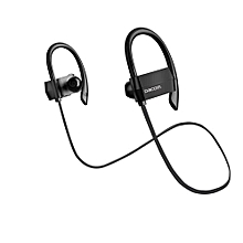 Sports Bluetooth Headphones IPX4 Anti-water In Ear Wireless Headset Hands Free Earphone With Microphone For Running (Black)
