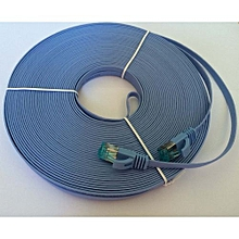 Brand 0.5M Aurum Cables Flat CAT6 Flat UTP Ethernet Network Cable RJ45 Patch LAN Cable /Ethernet Cables Metal Crystal Head Blue