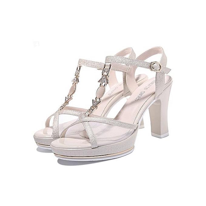 3f455b30317 Fashion Women Platform Sandals Metal T Strap Crystal Flowers Pink White  Wedge Sandals Wedding Shoes 0108